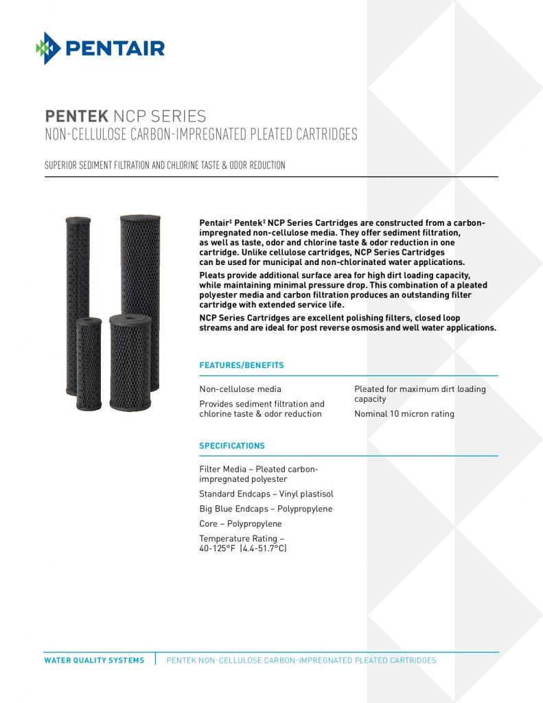 Filtro de Carbon Poliester Impregnado Serie NCP