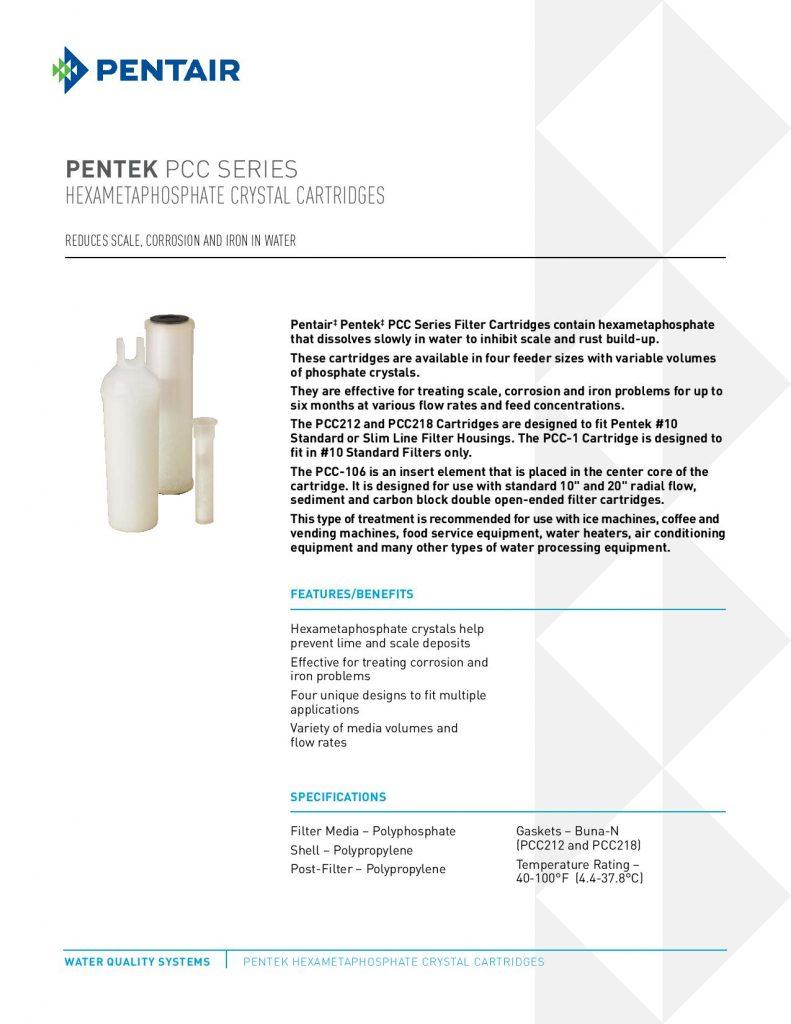 Filtro de Cristales de Fosfato Serie PCC