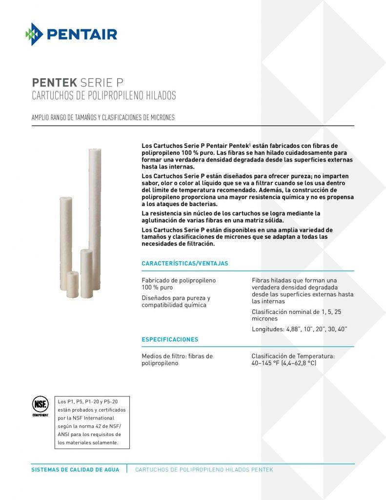 Filtro de Polipropileno PolySpun Serie P