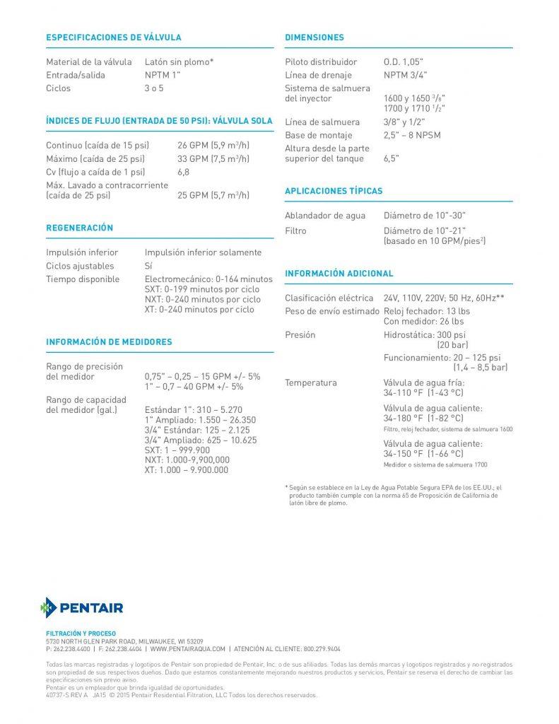 Valvula Fleck 2750-1