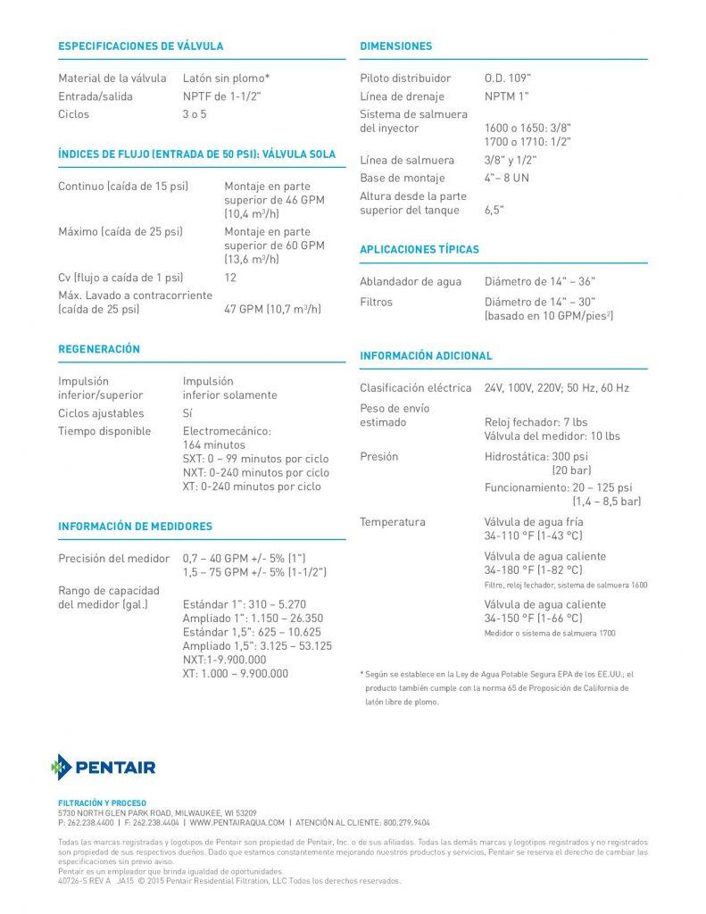 Valvula Fleck 2850-1