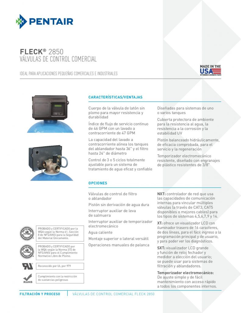 Valvula Fleck 2850