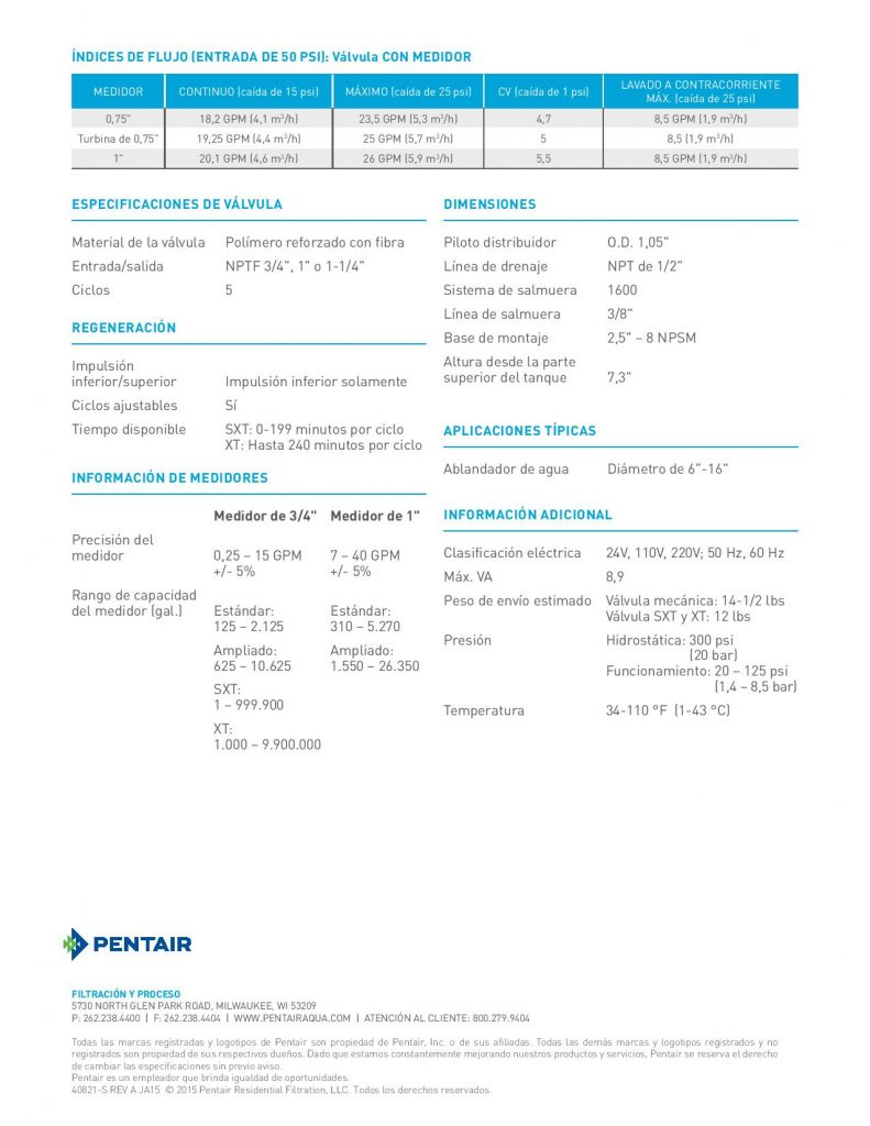 Valvula Fleck 9100-1