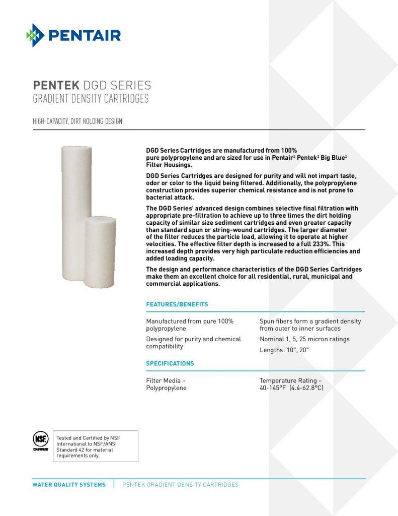Filtro de Polipropileno Dual Serie DGD