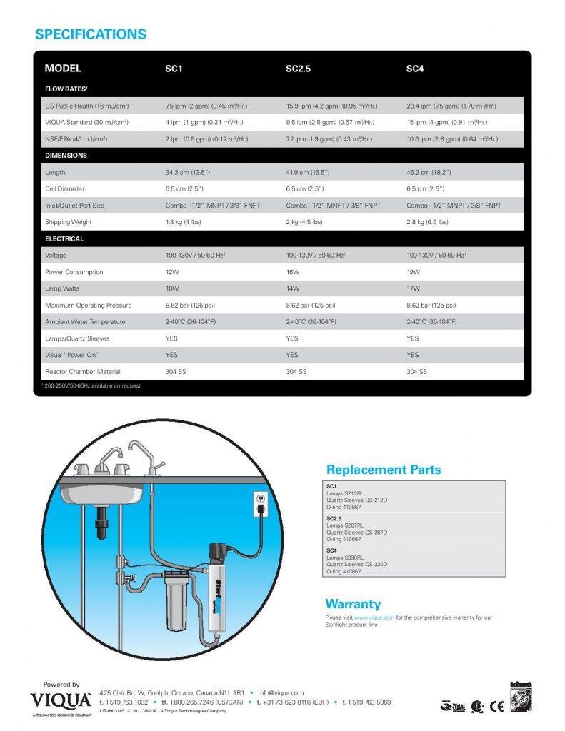 Purificador UV Sterilight Copper