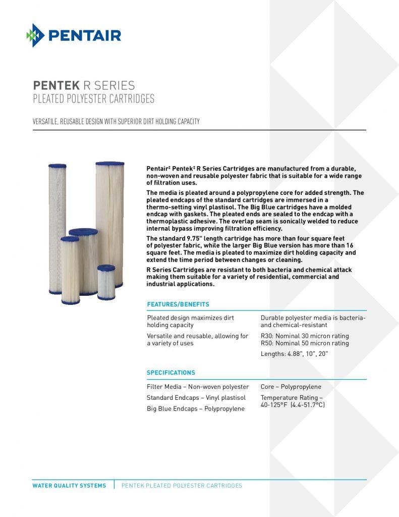 Filtro de Poliester Reusable Serie R