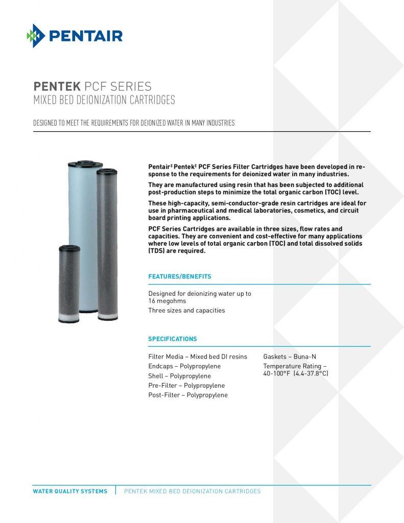 Filtro de Deionizado Serie PCF