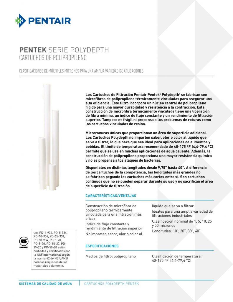 Filtro de Polipropileno Serie POLYDEPTH