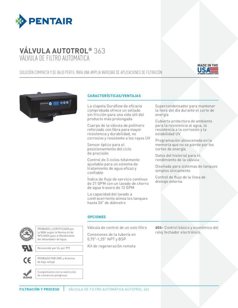 Valvula Autotrol 363