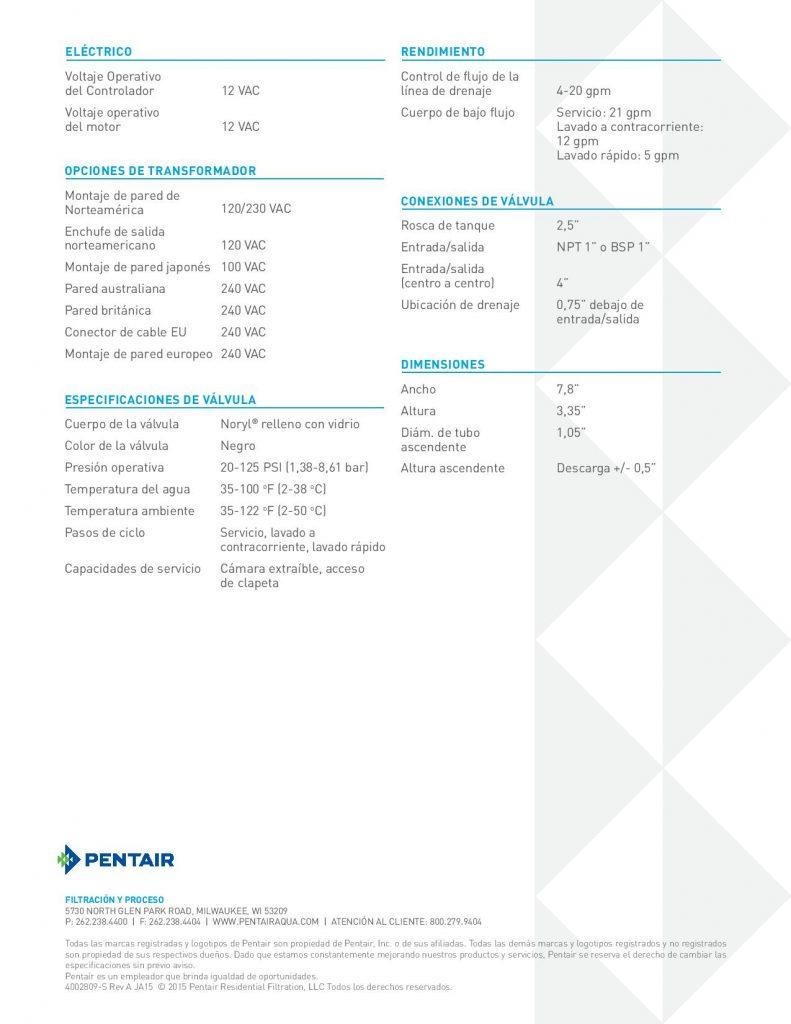 Valvula Autotrol 363-1