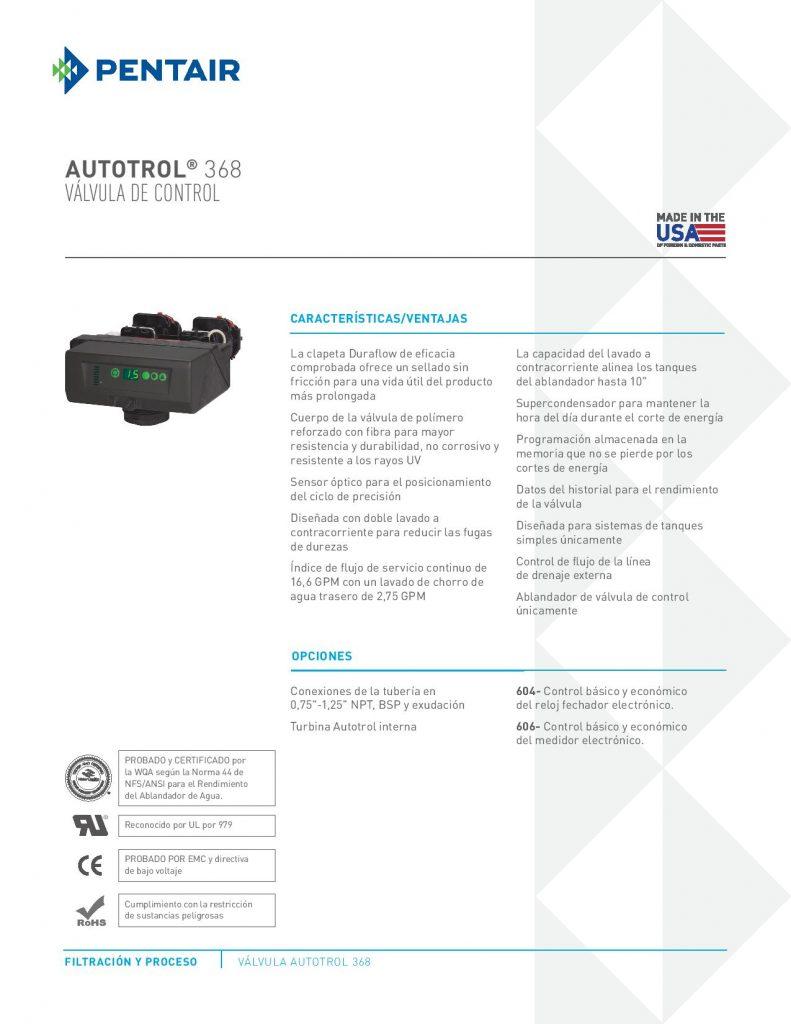 Valvula Autotrol 368